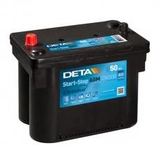 Аккумулятор 12V 50Ah 800A Deta DK508 Micro-Hybrid AGM