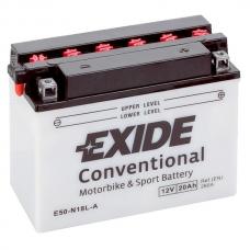 Аккумулятор 12V 20Ah 260A Exide E50-N18L-A3