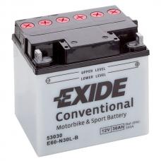 Аккумулятор 12V 30Ah 300A Exide E60-N30L-A