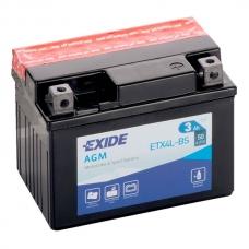Аккумулятор 12V 3Ah 50A Exide ETX4L-BS