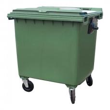 Контейнер 1100 л мусорный, зеленый