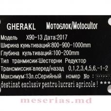 Мотоблок 13  л.с. дизель Gherakl X90-13