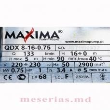 Дренажный насос MAXIMA QDX 8-16-0,75